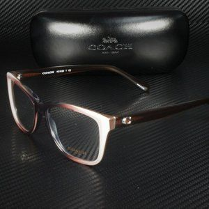 COACH Black Light Brown 54mm Eyeglasses